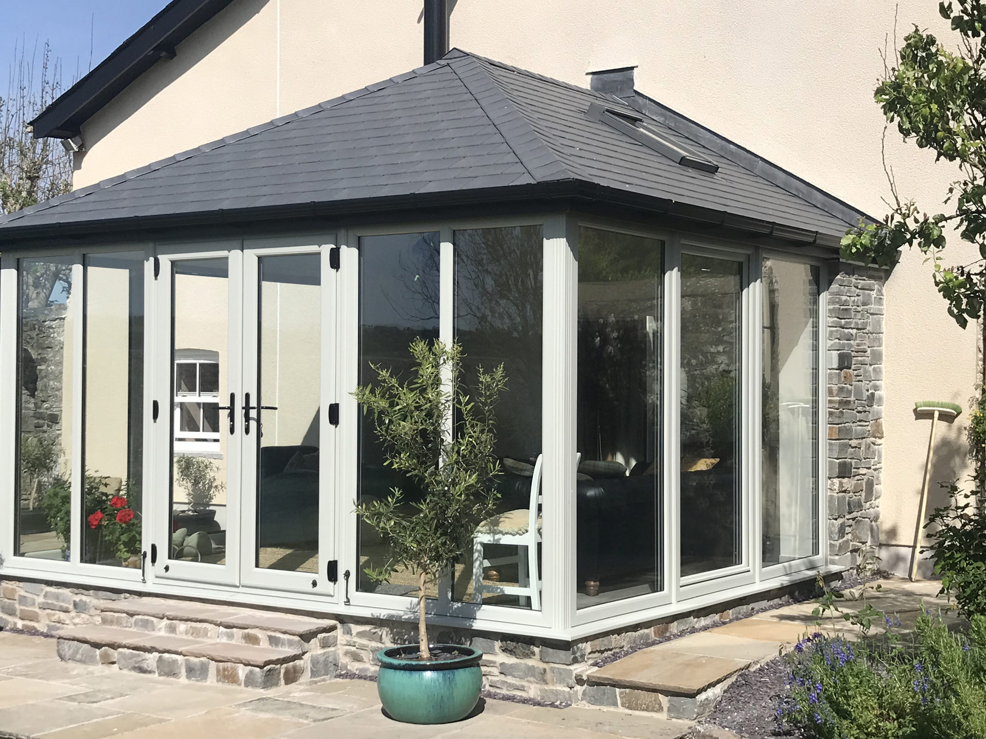 Solid Tiled Conservatory Roof Carmarthen