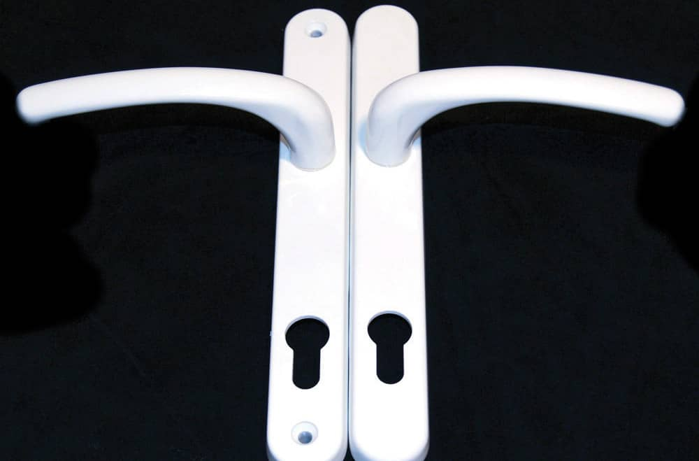 White Lever Handle